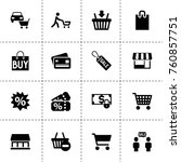 simple 16 set of retail filled... | Shutterstock .eps vector #760857751
