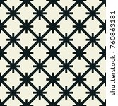 seamless pattern with geometric ... | Shutterstock .eps vector #760863181
