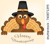thanksgiving card vector design ... | Shutterstock .eps vector #760871395