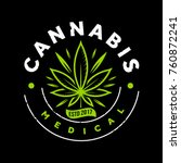 Medical Green Cannabis Emblem...