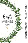 vector floral greeting card... | Shutterstock .eps vector #760874587