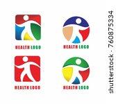 healthlogo template vector icon ... | Shutterstock .eps vector #760875334