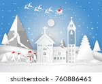 winter season with snowflake ... | Shutterstock .eps vector #760886461