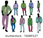 fashion people | Shutterstock .eps vector #76089127