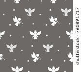 vector flat background with... | Shutterstock .eps vector #760891717