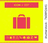 travel bag icon | Shutterstock .eps vector #760892641