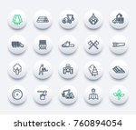 timber industry icons set ... | Shutterstock .eps vector #760894054
