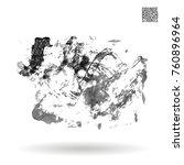 grey brush stroke and texture.... | Shutterstock .eps vector #760896964