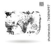 grey brush stroke and texture.... | Shutterstock .eps vector #760896997