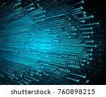 binary circuit board future... | Shutterstock .eps vector #760898215