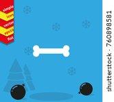 bone flat vector icon. | Shutterstock .eps vector #760898581