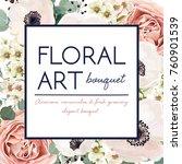 vector floral card design ... | Shutterstock .eps vector #760901539