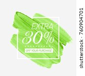 extra sale 30  off sign over... | Shutterstock .eps vector #760904701