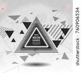 triangular banner with white...   Shutterstock .eps vector #760906534