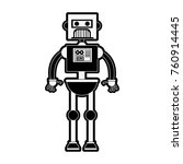 cute robot cartoon | Shutterstock .eps vector #760914445