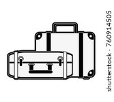 travel luggages isolated | Shutterstock .eps vector #760914505