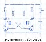 simple flip flop circuit hand...   Shutterstock .eps vector #760914691