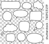speech bubbles set | Shutterstock .eps vector #760915159
