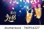 hello 2018. merry christmas and ... | Shutterstock .eps vector #760916227