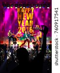 happy new year dj disco party... | Shutterstock .eps vector #760917541