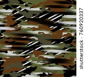 abstract military pattern with... | Shutterstock .eps vector #760920337