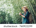 travel women are watching the... | Shutterstock . vector #760922299