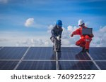 engineer working on checking... | Shutterstock . vector #760925227