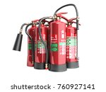 fire extinguishers isolated on... | Shutterstock . vector #760927141