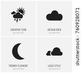 set of 4 editable air icons....