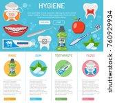 dental hygiene banner and...   Shutterstock .eps vector #760929934