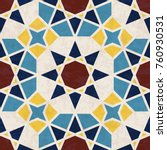 abstract geometric mosaic... | Shutterstock .eps vector #760930531