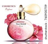 vintage spray perfume bottle.... | Shutterstock .eps vector #760930759