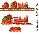Little Red Train With Wagons B...