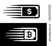 fast money bitcoin motion line...   Shutterstock .eps vector #760933555