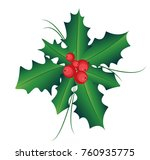 element ilex branch with... | Shutterstock .eps vector #760935775