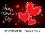 valentine's background with... | Shutterstock .eps vector #760937479