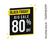 black friday big sale percent... | Shutterstock .eps vector #760940359