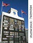 cricket scoreboard | Shutterstock . vector #76094584