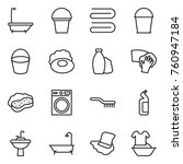 thin line icon set   bath ... | Shutterstock .eps vector #760947184