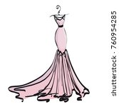 wedding dress design  black and ... | Shutterstock .eps vector #760954285