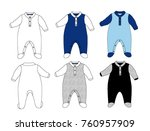 baby romper boy many color baby ...   Shutterstock .eps vector #760957909