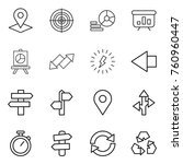 thin line icon set   pointer ... | Shutterstock .eps vector #760960447