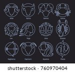 collection of astrological... | Shutterstock .eps vector #760970404
