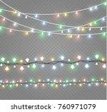 christmas lights isolated on... | Shutterstock .eps vector #760971079