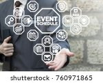event schedule appointment... | Shutterstock . vector #760971865