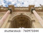 the arc de triomphe du... | Shutterstock . vector #760973344