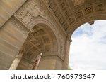 the arc de triomphe du... | Shutterstock . vector #760973347