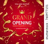 realistic grand opening... | Shutterstock .eps vector #760977151