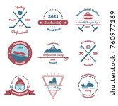 winter sports set of color... | Shutterstock .eps vector #760977169