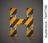 vector dirty technical alphabet ... | Shutterstock .eps vector #76097788